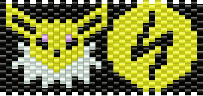 Pokemon Jolteon And Lightning Energy Symbol Kandi Pattern