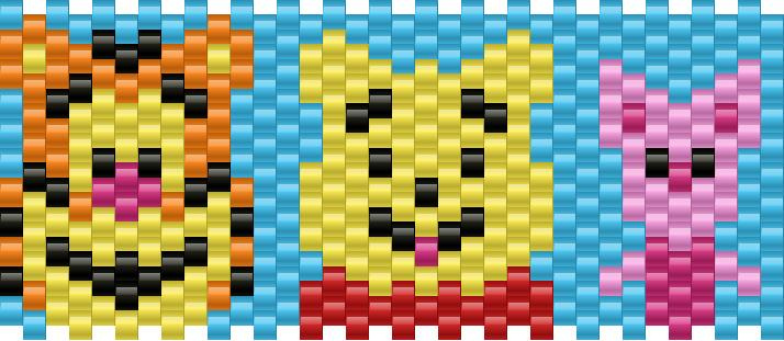 Winnie The Pooh Pony Bead Patterns Characters Kandi Patterns For