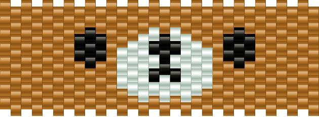 Rilakkuma Face Kandi Pattern