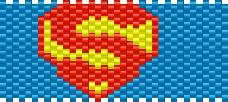 Superman Kandi Pattern