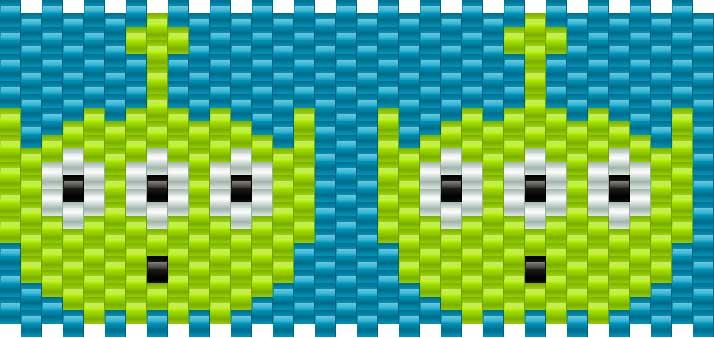 Toystoryaliens Kandi Pattern