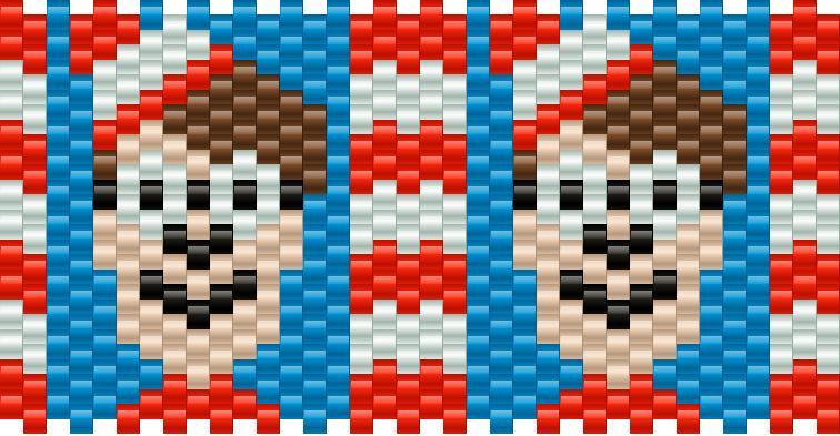 Wheres Waldo Kandi Pattern