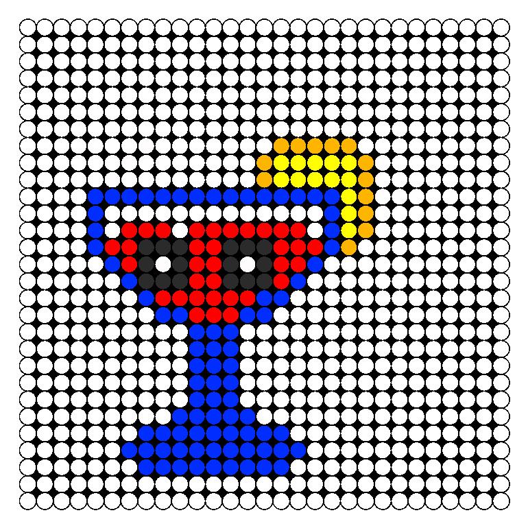 Kawaii Cocktail Perler Bead Pattern / Bead Sprite
