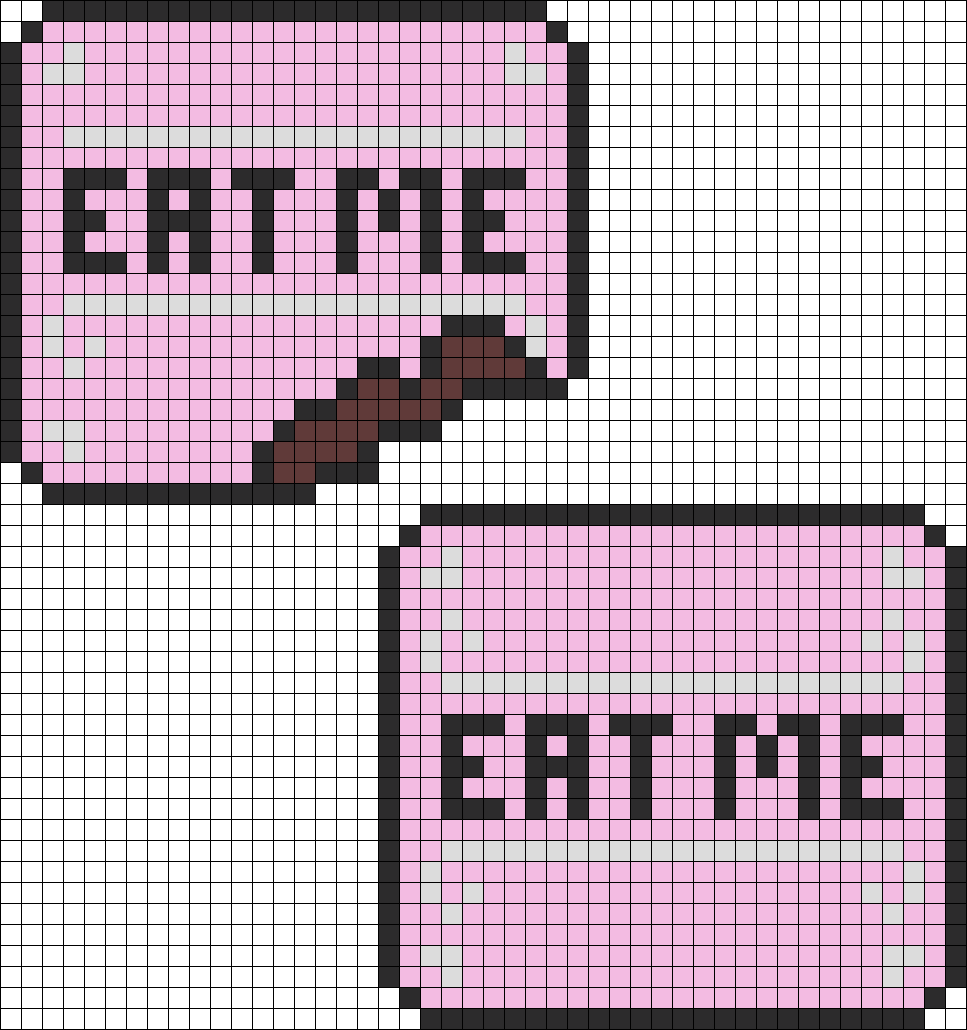 Alice In Wonderland Eat Me Cakes Perler Bead Pattern / Bead Sprite