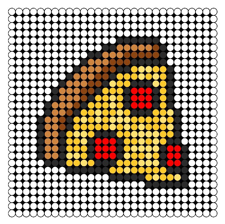 Pizza Slice Perler Bead Pattern / Bead Sprite