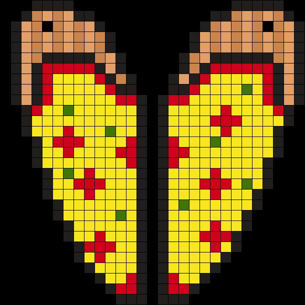 Pizza Heart Perler Bead