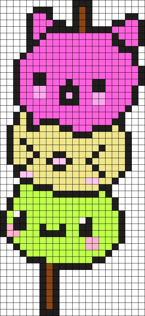 Kawaii Dango Perler Bead Pattern Bead Sprites Food Fuse