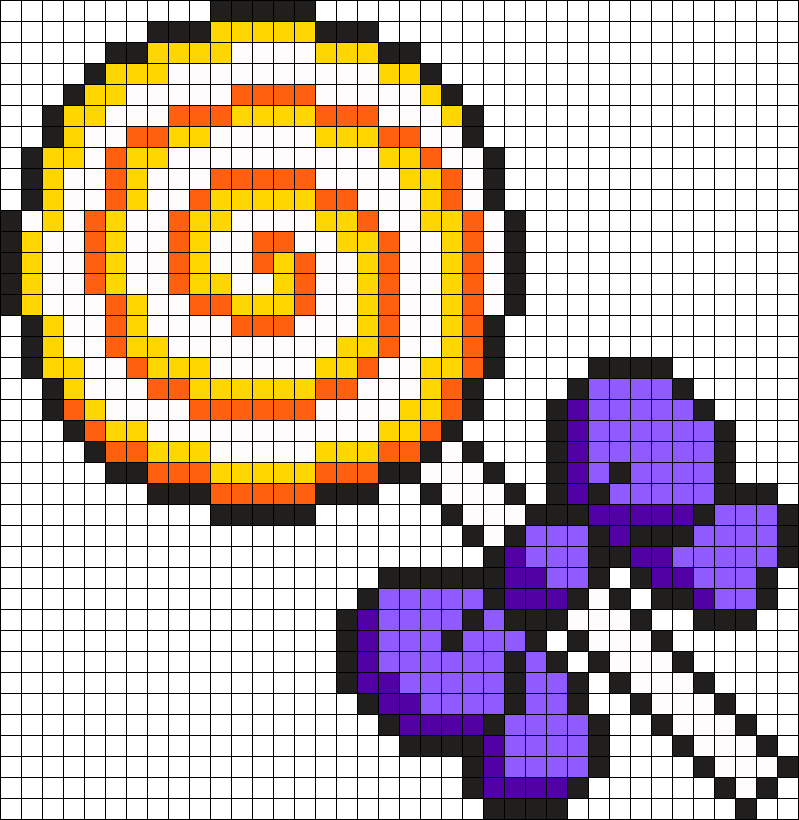 Halloween Themed Lollipop Perler Bead Pattern | Bead ...
