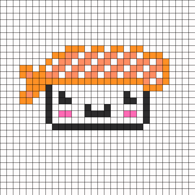 Beads Cute Cute Sushi Perler Bead Pattern