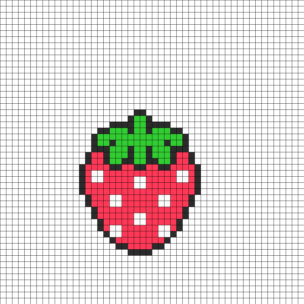 cute strawberry perler bead pattern