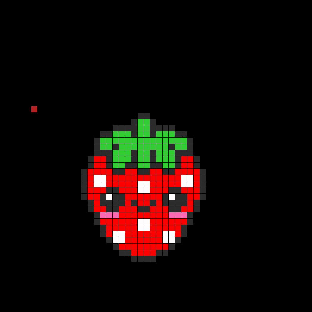 Kawaii Strawbeey Perler Bead Pattern / Bead Sprite