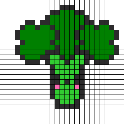 Broccoli Perler Bead Pattern / Bead Sprite