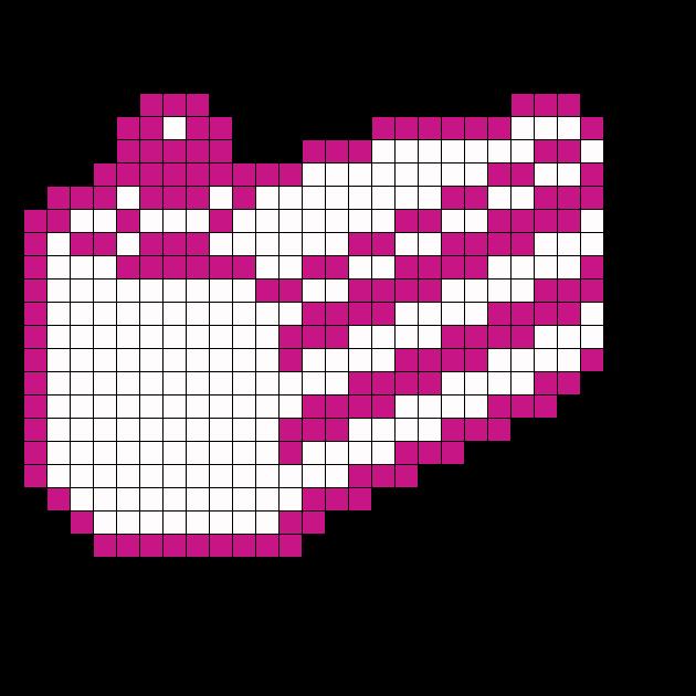 Portal Cake Perler Bead Pattern / Bead Sprite