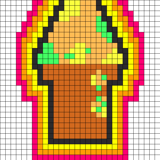 Shurburt Ice Cream Perler Bead Pattern / Bead Sprite