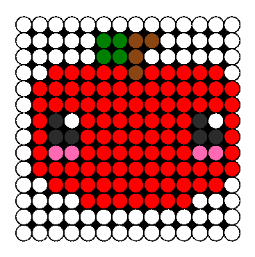 Kawaii Apple Perler Bead Pattern / Bead Sprite