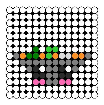 Kawaii Miso Soup Perler Bead Pattern / Bead Sprite