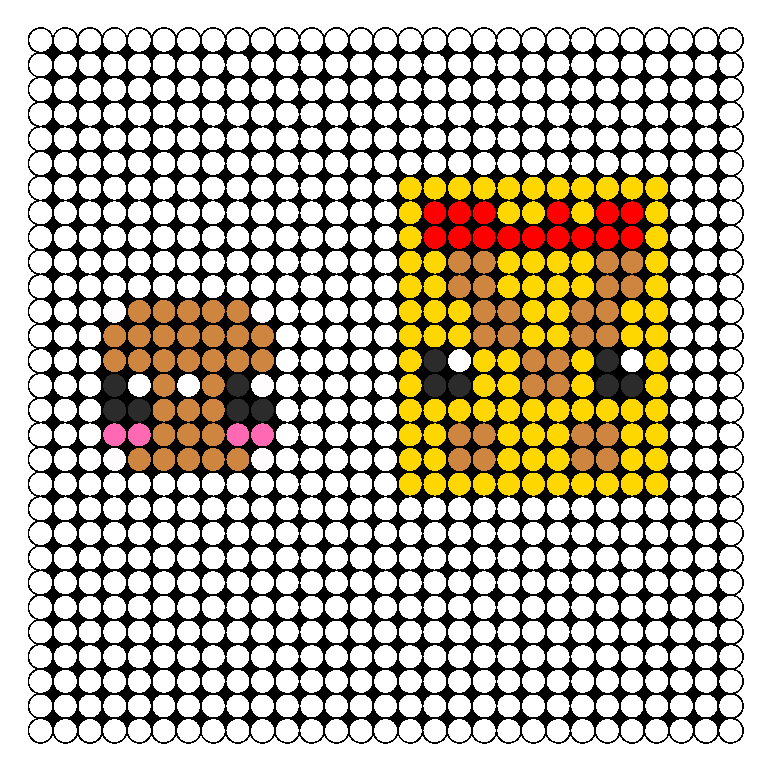 Kawaii Cheerios And Box Perler Bead Pattern / Bead Sprite