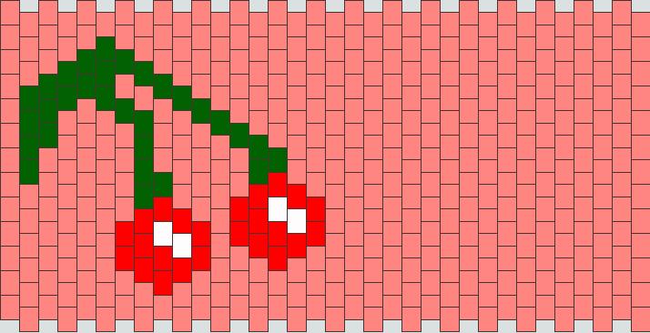 Cherry Cuff Kandi Pattern