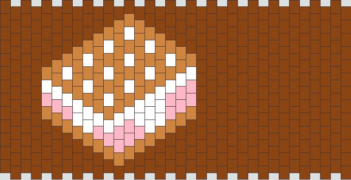Ice Cream Sandwich Kandi Pattern