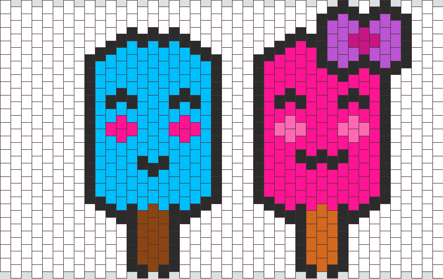 Cute Popsicles Boy And Girl