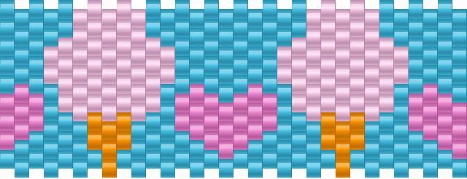 Cotton Candy Kandi Pattern