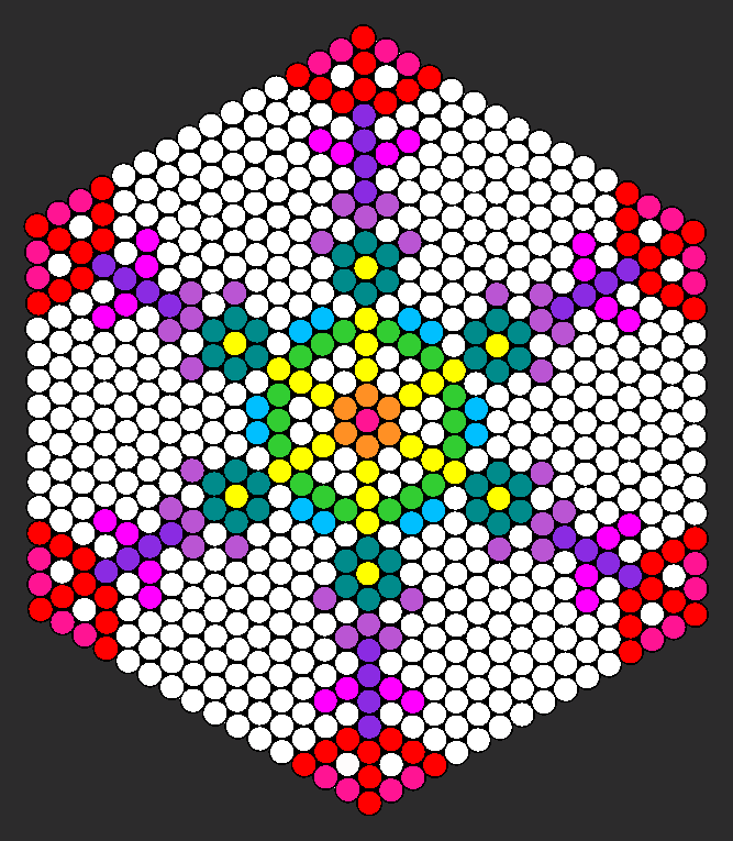 Rainbow Snowflake Lawl