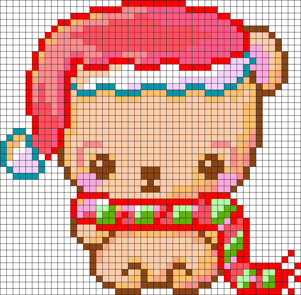 christmas bear perler bead pattern bead sprites holidays fuse bead patterns. Black Bedroom Furniture Sets. Home Design Ideas