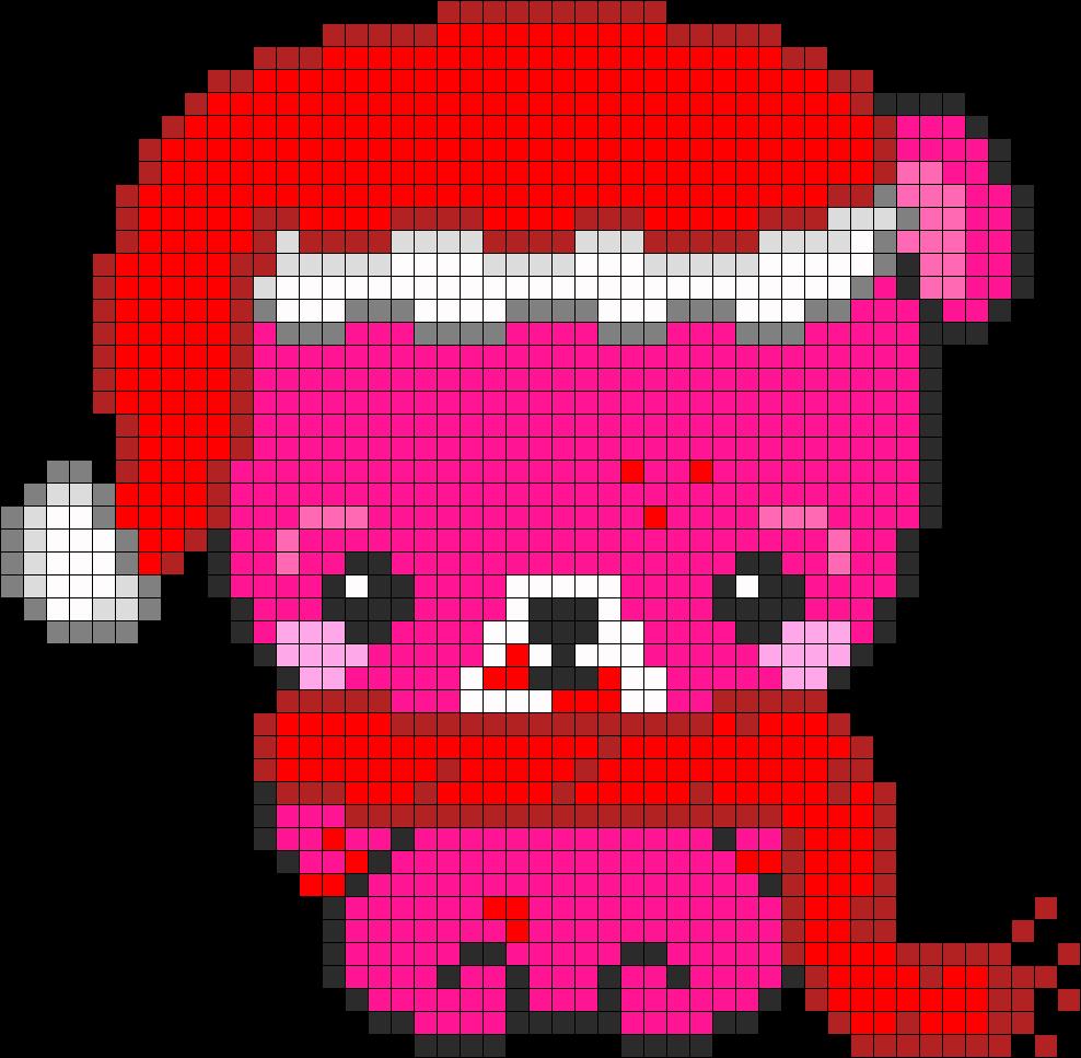 Chrismas Baby Gloomy Bear Perler Bead Pattern / Bead Sprite