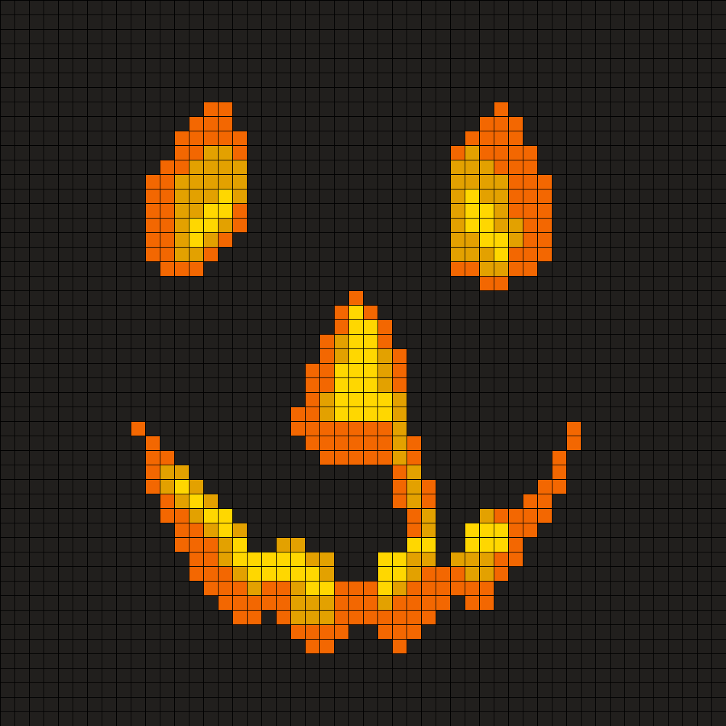 Halloween Movie Pumpkin Perler Bead Pattern / Bead Sprite