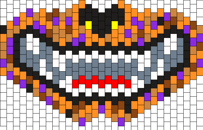 Halloween Dog Mask Bead Pattern