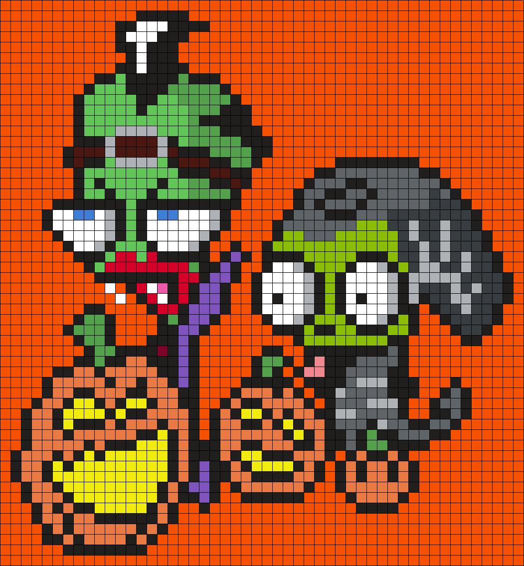 Halloween Zim And Gir From Invader Zim