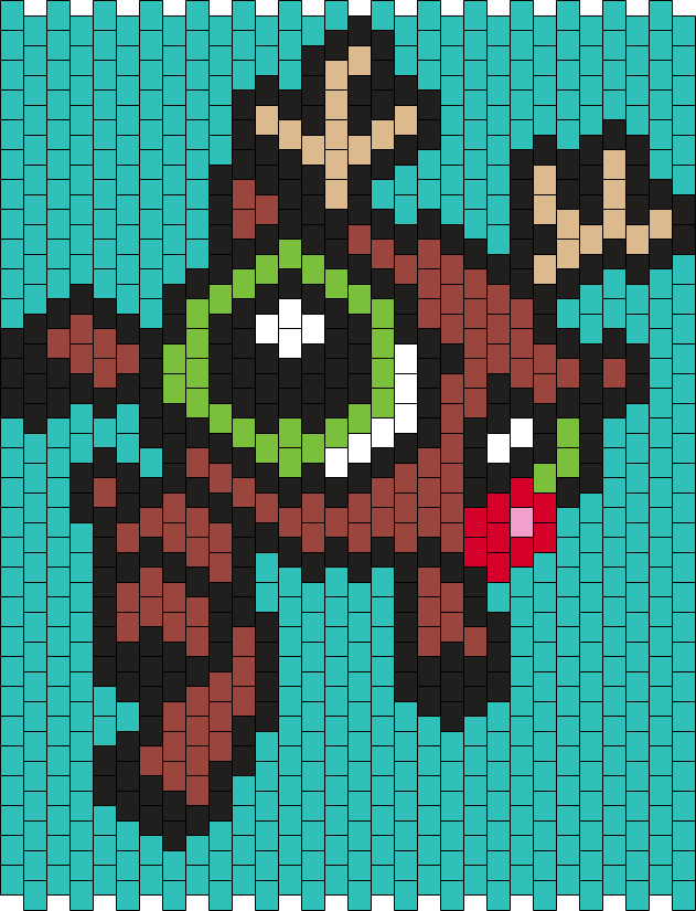 Buttercup As Rudolph The Red-Nosed Reindeer (from The  Powerpuff Girls) Bead Pattern