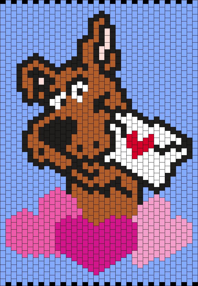 Scooby- Doo Valentine  Bead Pattern