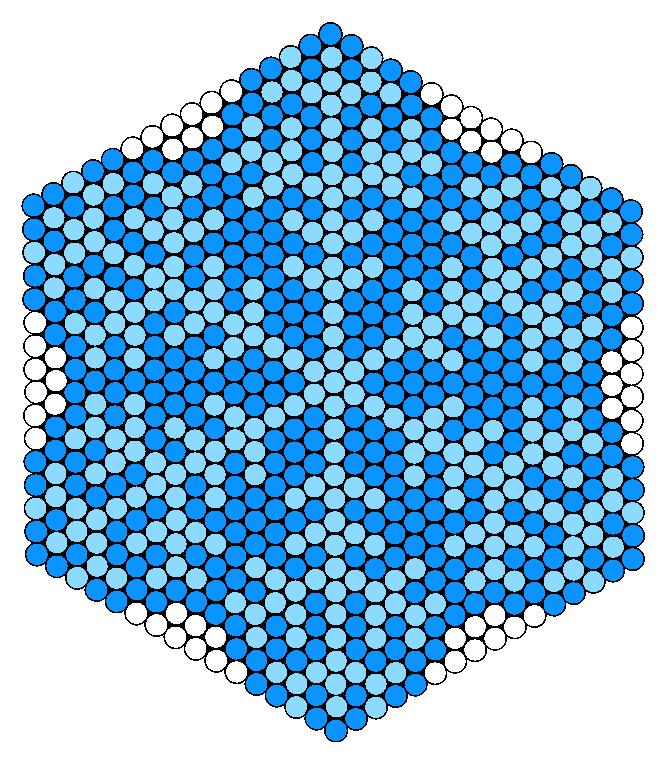 Snowflake Perler Bead Pattern / Bead Sprite
