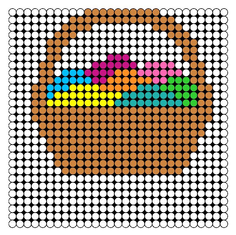 Easter Basket Perler Bead Pattern / Bead Sprite