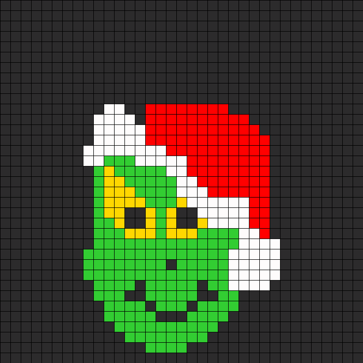 The Grinch  Perler Bead Pattern / Bead Sprite