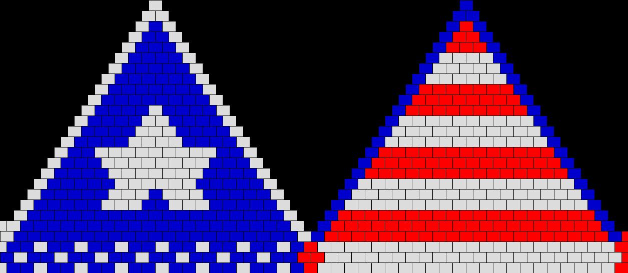 Star And Stripes Bikini Bead Pattern