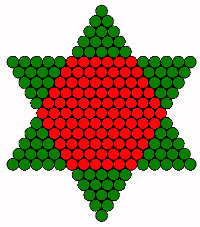 Christmas tree star BACK