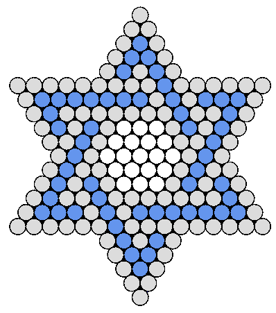 Blue and White Jewish Star