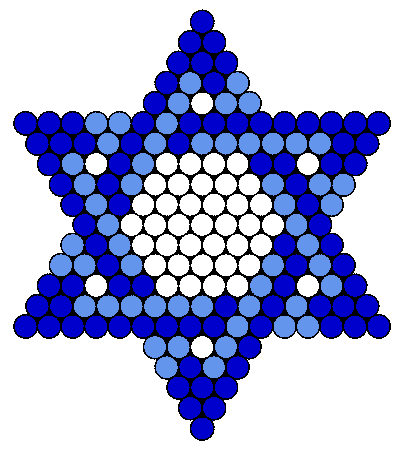 Blue Jewish Star of David
