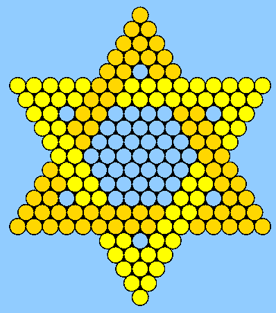 Yellow and Gold Jewish Star