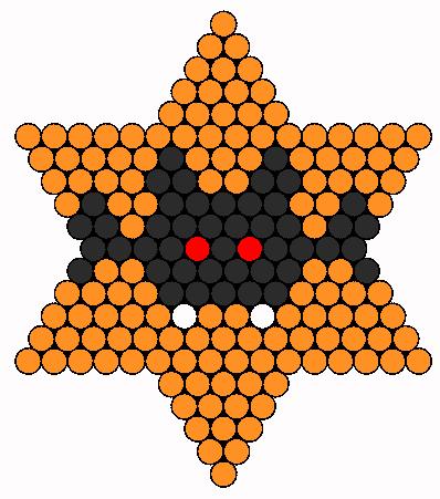Bat Perler Bead Pattern / Bead Sprite