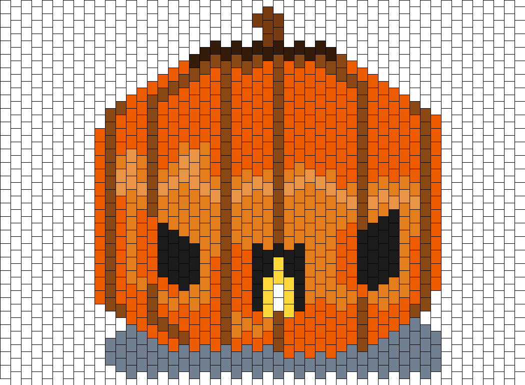 Stardoll Kawaii Pumpkin  Bead Pattern