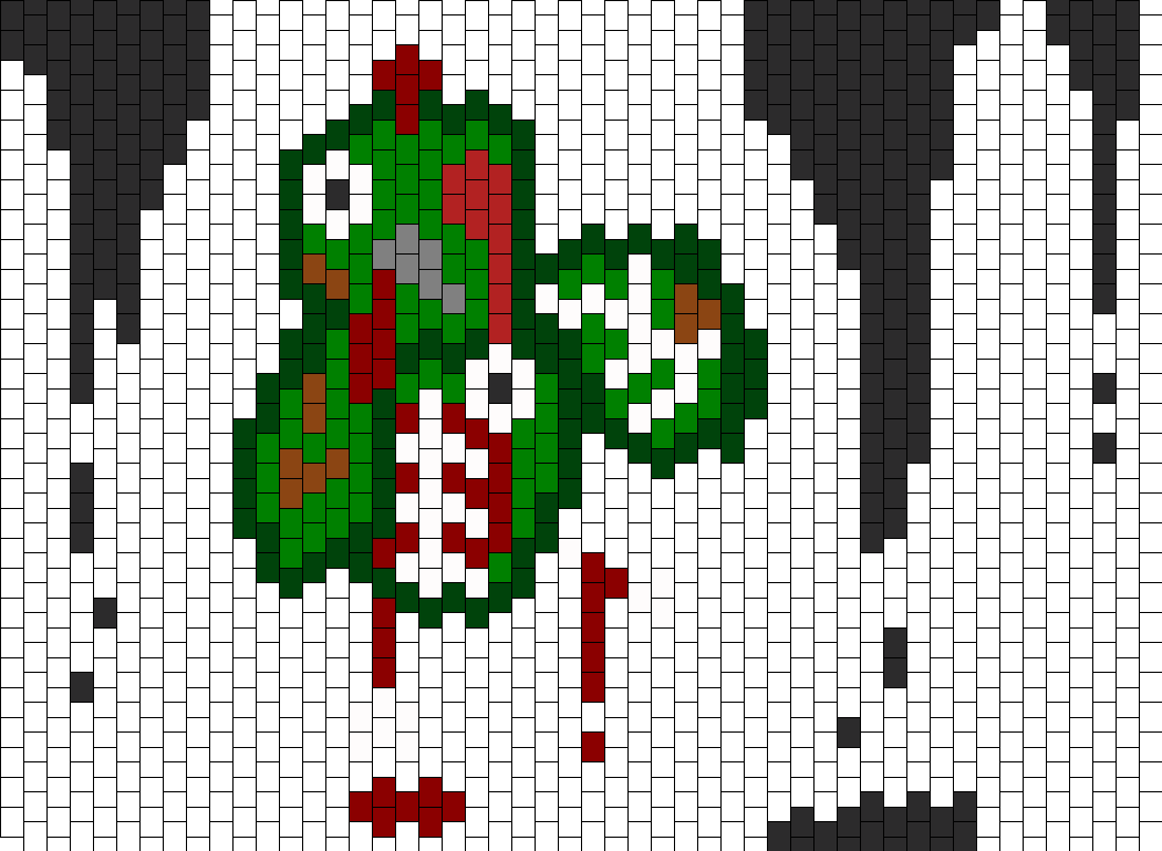 Zombie Turkey Undead Thanks Giving Bead Pattern