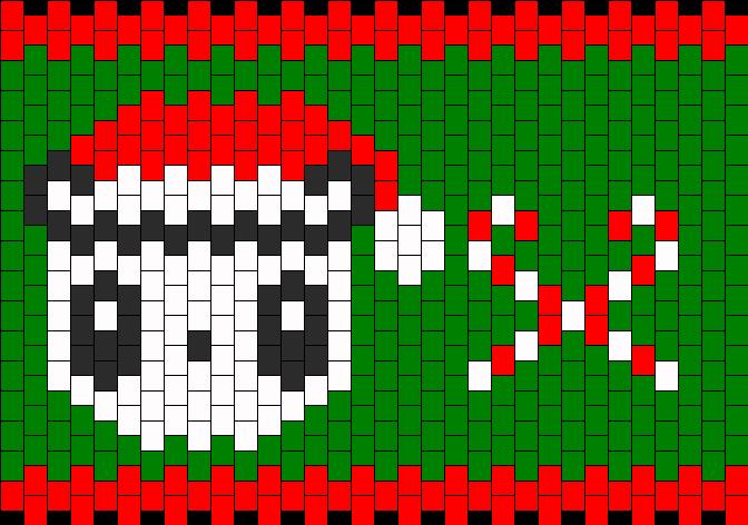 Christmas Hello Kitty Panda Kandi Pattern