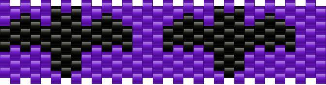Bats Small Kandi Pattern