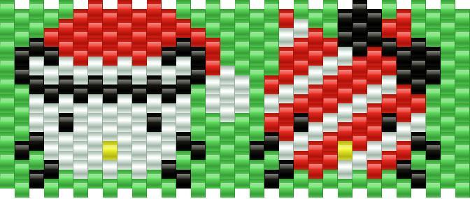 Christmas Hello Kitty 1 Kandi Pattern