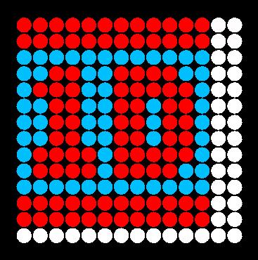 1D Perler Bead Pattern / Bead Sprite