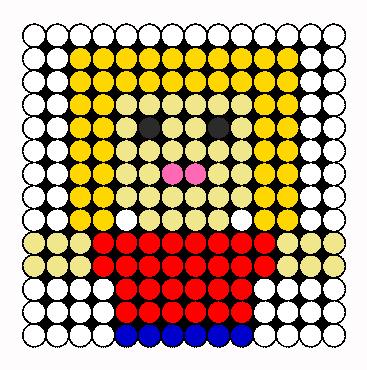 Girl Perler Bead Pattern / Bead Sprite