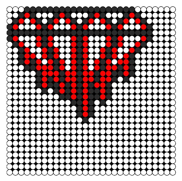 Bleeding Diamond Perler Bead Pattern / Bead Sprite